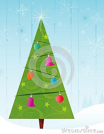 retro stilisiert weihnachtsbaum stockfoto bild 3056780. Black Bedroom Furniture Sets. Home Design Ideas