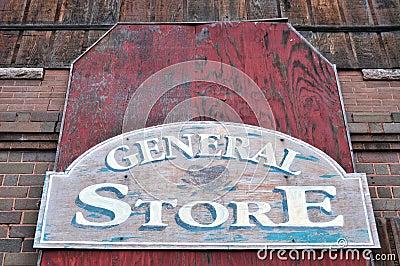 Retro store sign