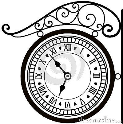 Free Retro Street Clock Stock Photography - 20808602