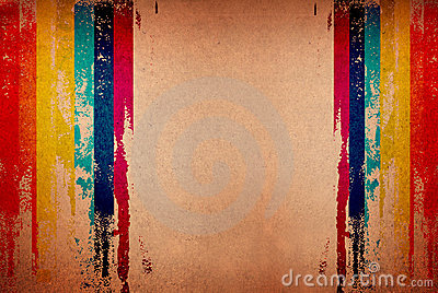Retro stripe distorted grungy pattern with stylish