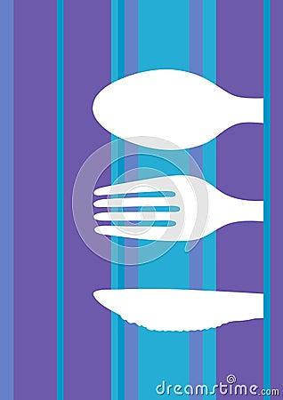Retro stripes menu design