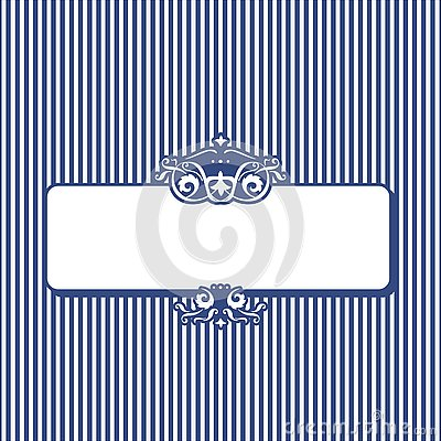 Retro stripy banner for your text