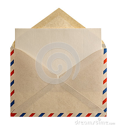 Free Retro Style Air Mail Envelope Letter Royalty Free Stock Images - 41746329