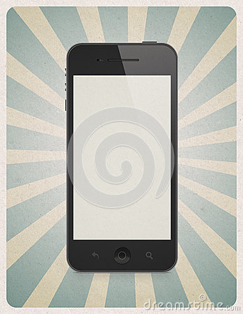 retro style background with mobile phone stock images