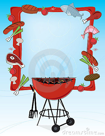 Free Retro-style BBQ Frame Royalty Free Stock Photography - 9787187