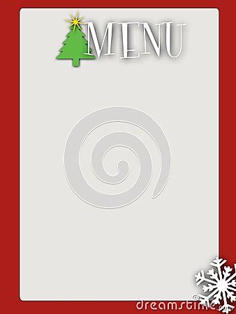 Retro style blank christmas menu