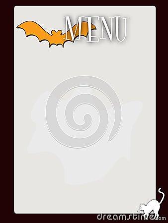 Retro style blank haloween menu
