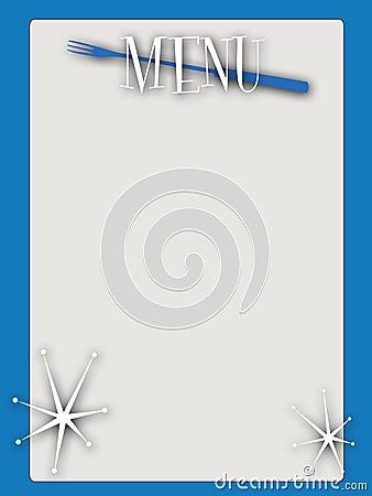 Retro style blank menu