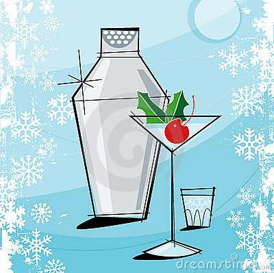 Free Retro-style Christmas Martini Royalty Free Stock Image - 3056826