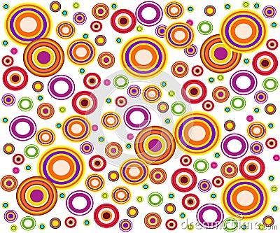 Retro style circles