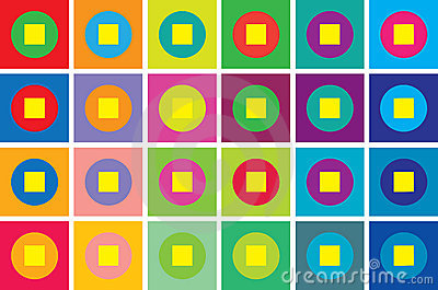 Retro style geometry background