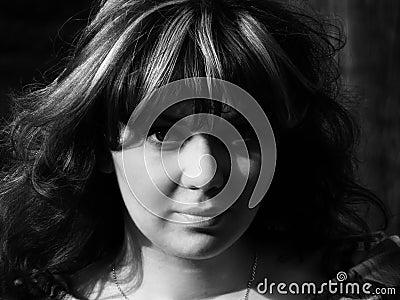 Retro-style girl portrait