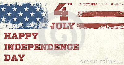 Retro Style Independence Day Design Template