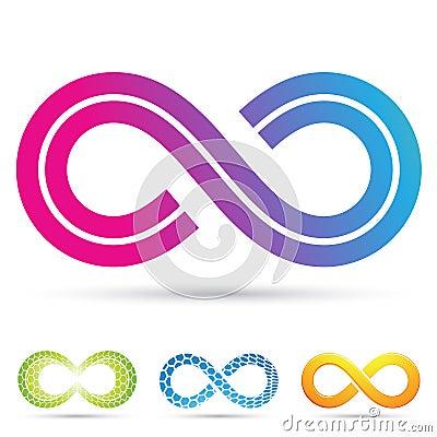 Retro style infinity symbol