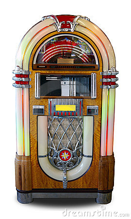 Retro style jukebox