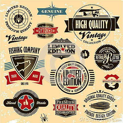 Free Retro Style Labels And Badges Vintage Collection. Royalty Free Stock Image - 25965206