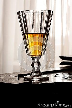 Retro style liquor glass