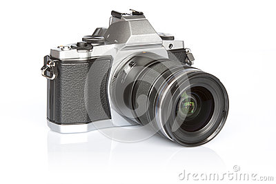 Retro style mirrorless digital camera