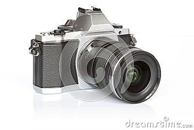 Retro style mirrorless digital camera
