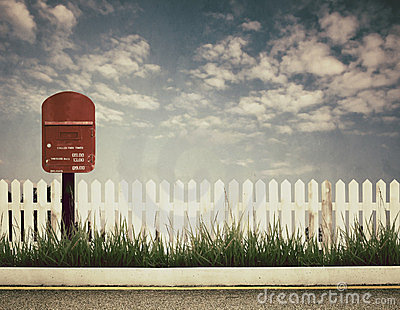 Retro style picture of postbox