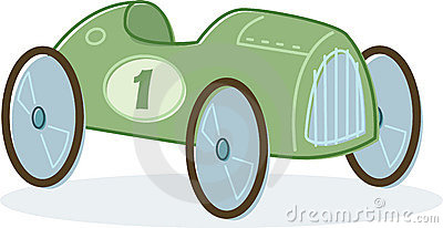 Retro style toy race car illustration