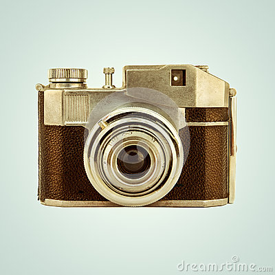 Free Retro Styled Image Of A Vintage Photo Camera Stock Photo - 43420400