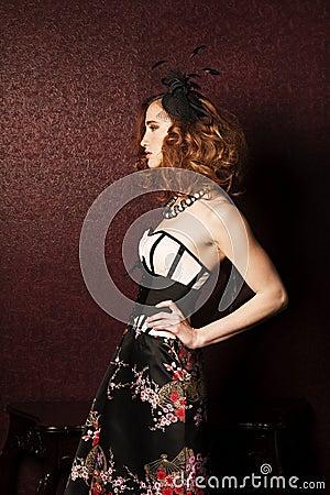 Retro styled woman