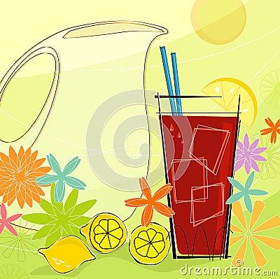 Free Retro Summer Refresh (Vector) Royalty Free Stock Photos - 2602078