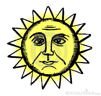 Retro Sun Illustration