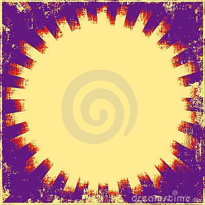 Retro Sunburst Grunge