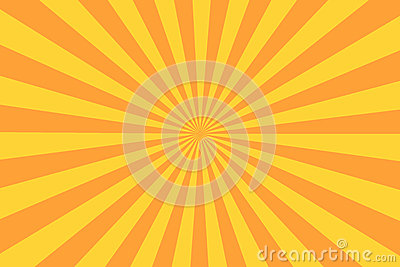 Retro sunburst ray in vintage style. Abstract comic book background Vector Illustration