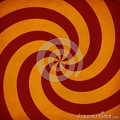Retro sunburst swirl