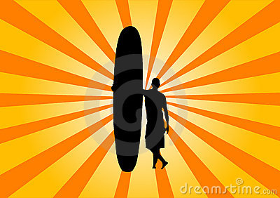 Retro surfer