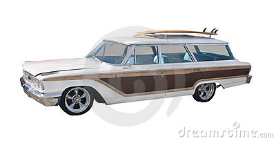 Retro surfer woodie wagon
