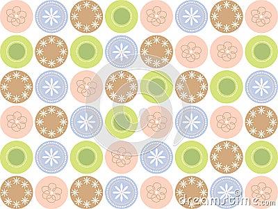 Retro sweet flower dots