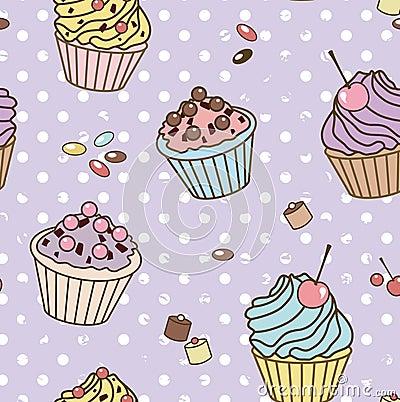 Retro sweets pattern