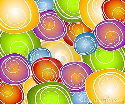 Retro Swirl Circles Collage