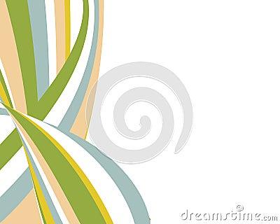 Retro swoopy stripes design