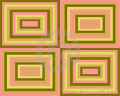 Retro symmetrical squares background