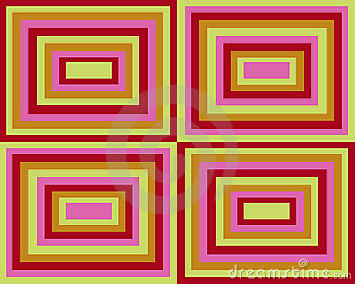 Retro symmetrical squares background