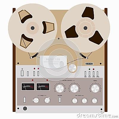 Retro tape recorder