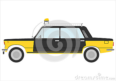 Retro taxi.