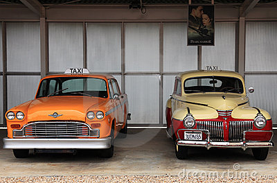 Retro taxi cars Editorial Photography