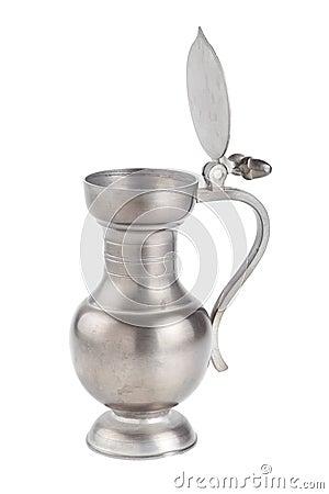 Retro teapot or coffee pot, jug isolated