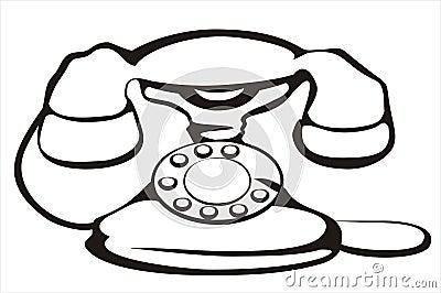 Retro telephone symbol