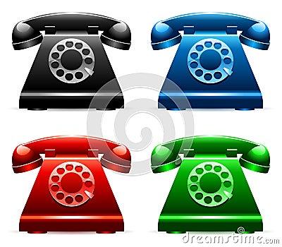 Retro telephones.