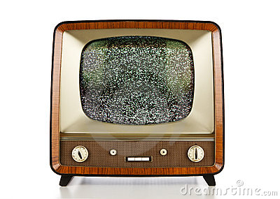 Retro television with no signal