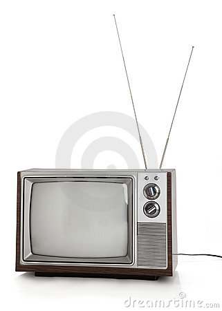 Free Retro Television Set Royalty Free Stock Photos - 9773228