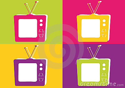 Retro Television in Vibrant Colors