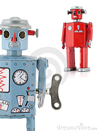 Retro Tin Toy Robots